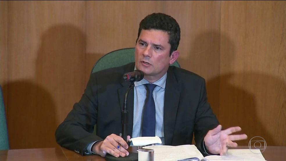Sérgio Moro, futuro ministro da Justiça e Segurança Pública — Foto: Rprodução/TV Globo