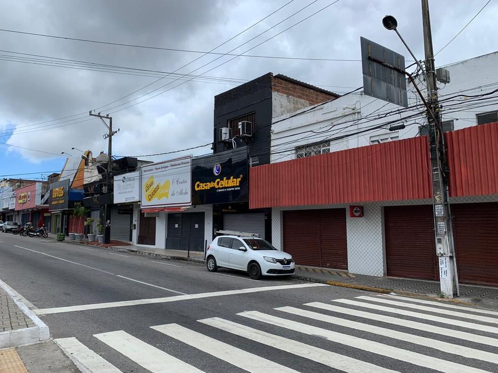 Lockdown restringe funcionamento a serviços essenciais — Foto: Anna Alyne Cunha/Inter TV Cabugi