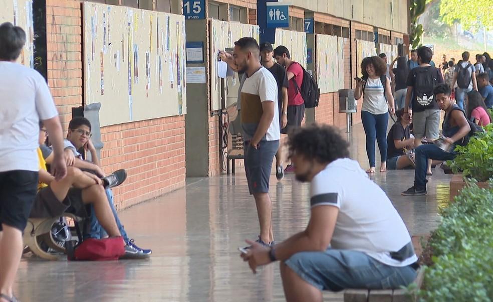 Alunos da Universidade de Brasília, em imagem de arquivo. — Foto: TV Globo/Reprodução