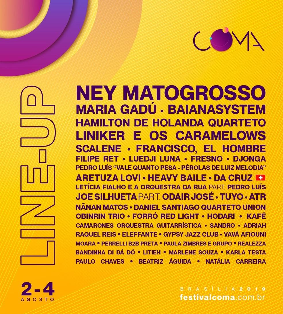 O Festival CoMA (Convenção Música e Arte) chega à 3ª edição com 50 atrações.  — Foto: Divulgação/Festival CoMA
