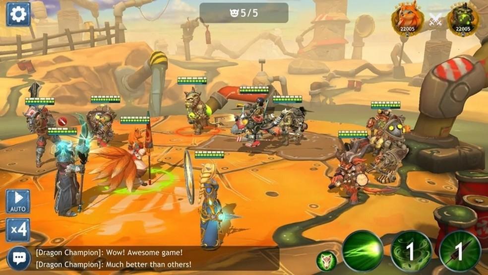 Dragon Champions permite jogar com heróis bons ou mals (ou até com os dois) — Foto: Divulgação/AppQuantum
