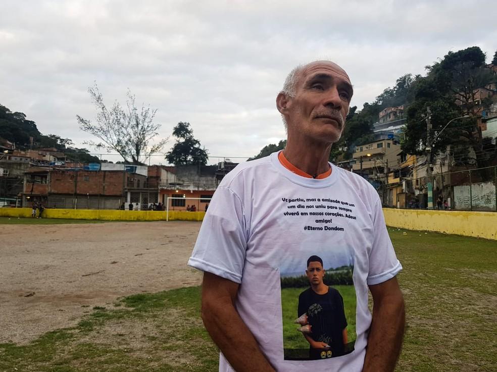 Cristóvão Xavier, avô do Dyogo — Foto: Ronald Lincoln Jr./GloboEsporte