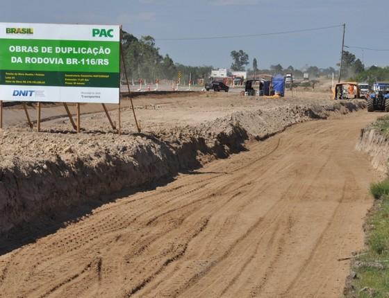 Obras do Programa de Aceleração do Crescimento (Foto: STE / Divulgação)