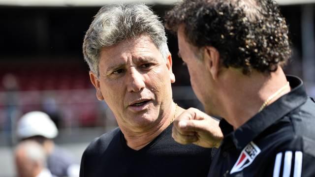 Renato Gaúcho, do Grêmio, e Cuca, São Paulo