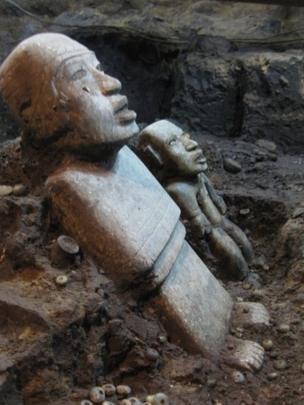 Em Teotihuacán, as mulheres tiveram um papel mais importante que os homens, diz o especialista (Foto: SERGIO GÓMEZ/TLALOCAN/INAH)