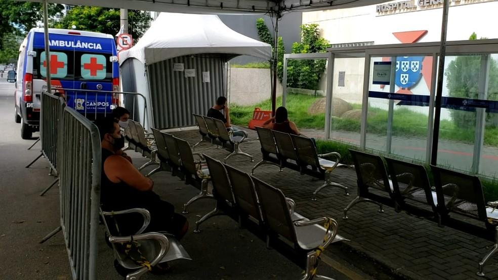 Centro de Controle e Combate ao Coronavírus em Campos dos Goytacazes, no RJ — Foto: Alice Sousa/Inter TV