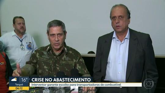 Governador e interventor na Segurança do RJ garantem escolta pra combustível