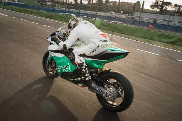 Moto de competição da nova categoria de elétricas MotoE (Foto: MotoGP)