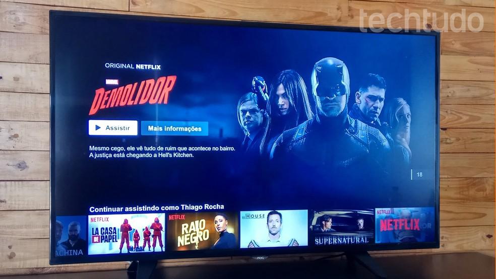 Usuários demoram menos de dois minutos para dar play em um filme ou série na Netflix — Foto: Thiago Rocha/TechTudo