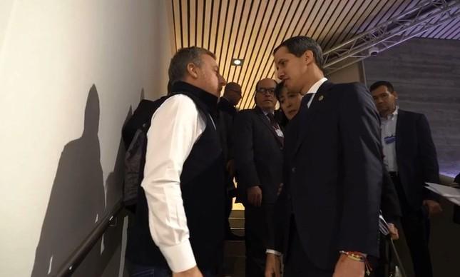 Luciano Huck e Juan Guaidó