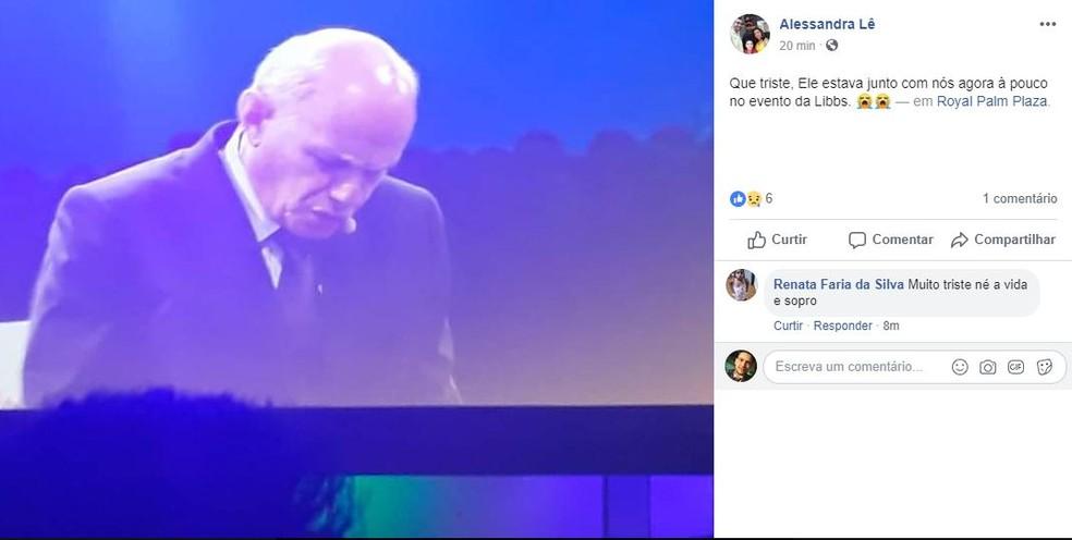 fbde77a74e Internauta Alessandra Lê lamenta morte de Boechat após palestra Campinas  — Foto  ReproduÃ