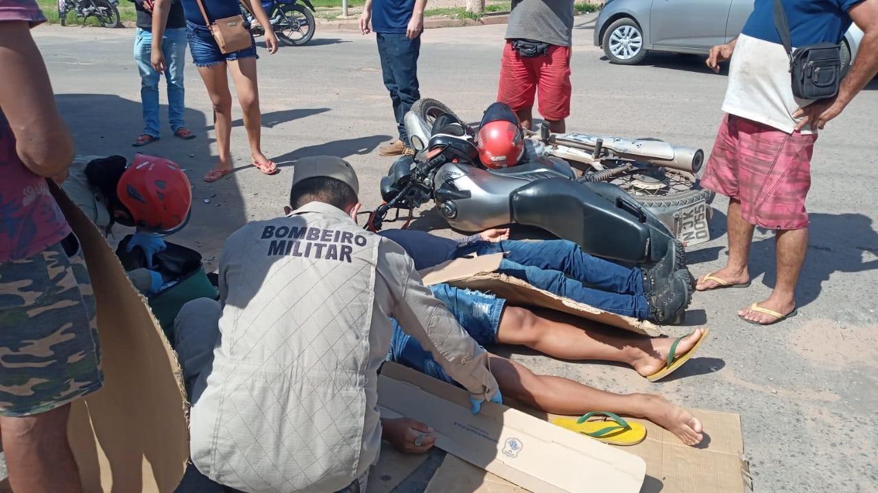 Duas pessoas ficam feridas após acidente em cruzamento do bairro Livramento, em Santarém