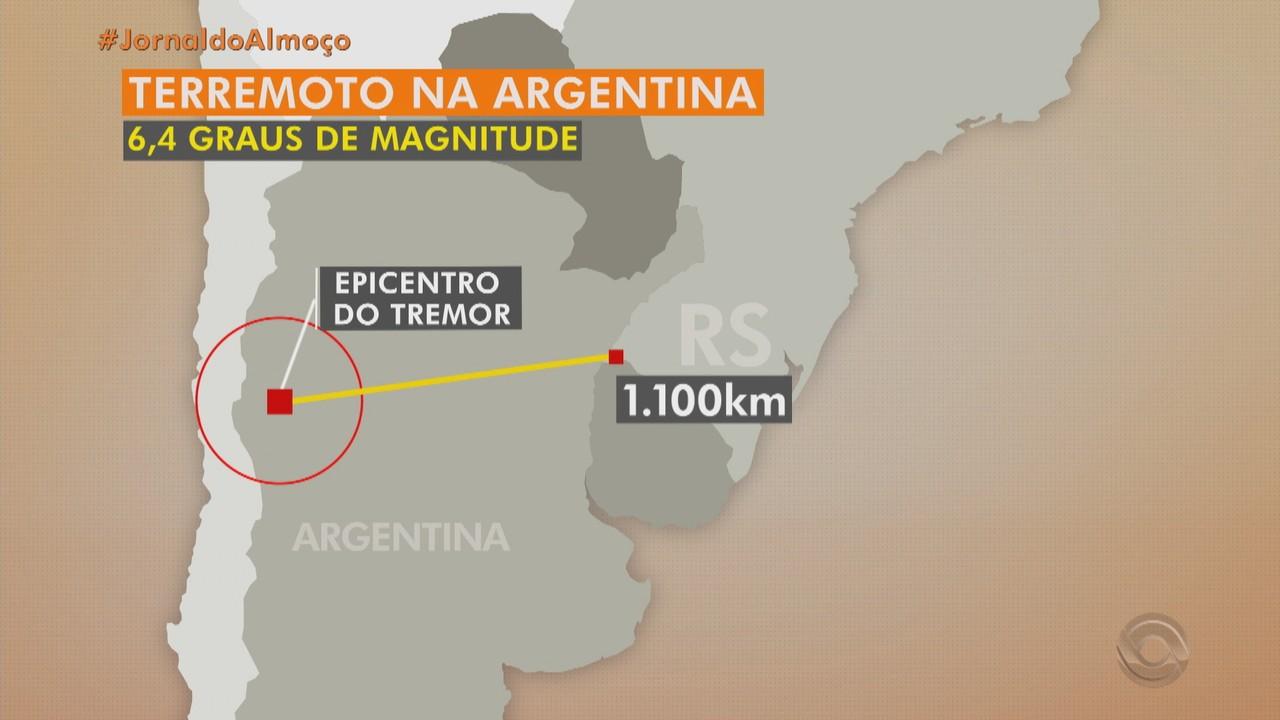 Argentina registra terremoto de alta magnitude na noite desta segunda (18)