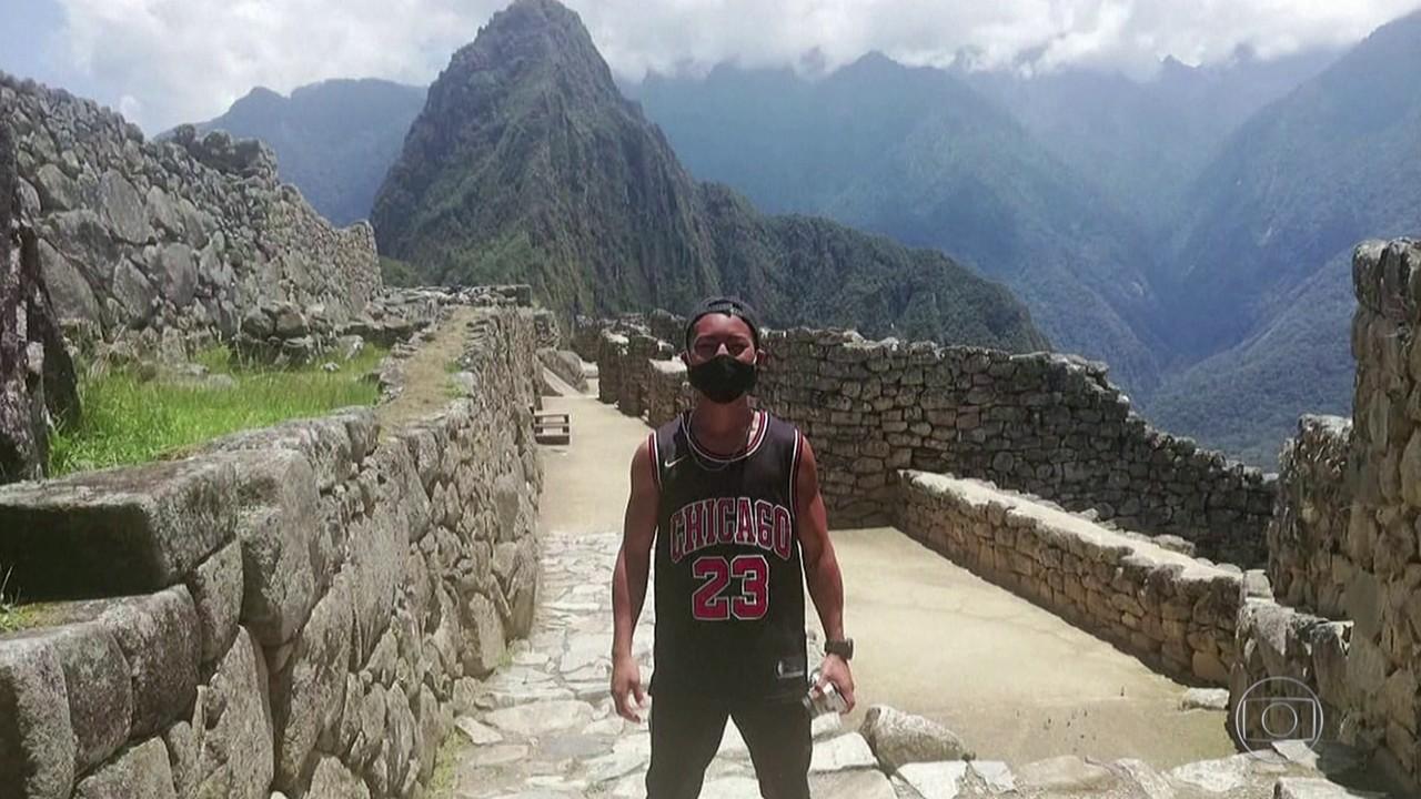 Turista japonês visita Machu Picchu depois de 7 meses de espera