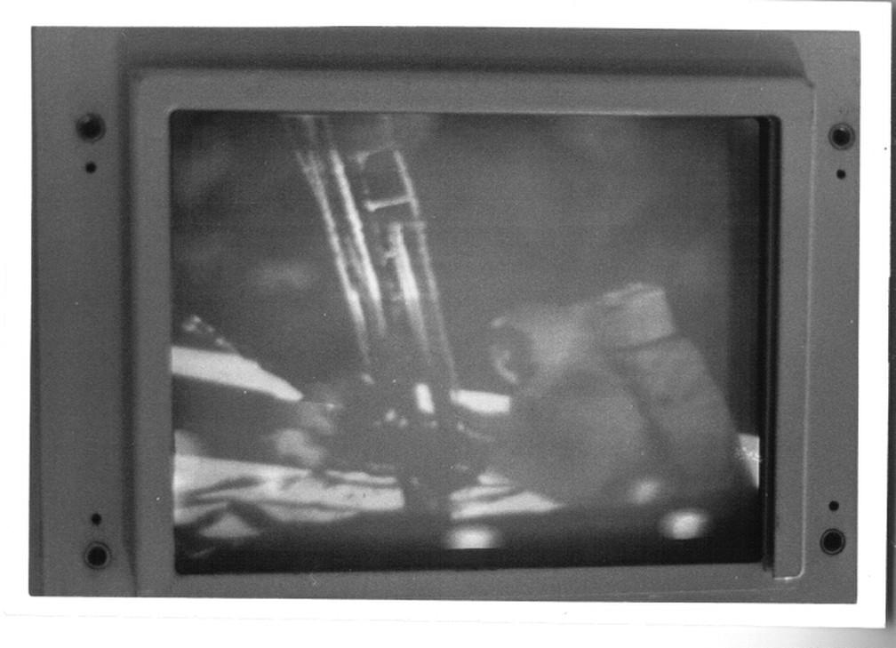 Câmeras de transmissão enviaram imagens do desembarque para todo o planeta — Foto: Divulgação/Nasa