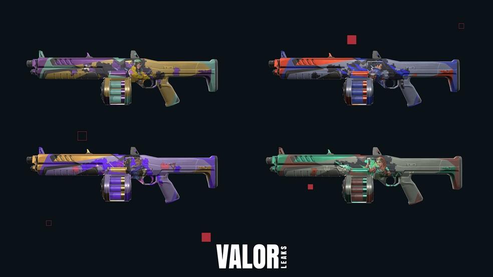 Linha Quebra-cabeça da arma Judge — Foto: Reprodução/Valorleaks