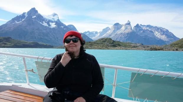 Juliana em Torres del Paine, na Patagônia Chilena (Foto: Arquivo Pessoal)
