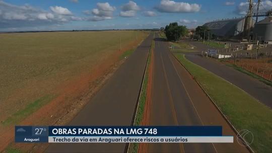 Após quatro anos, obras de duplicação da LGM-748 continuam paralisadas em Araguari