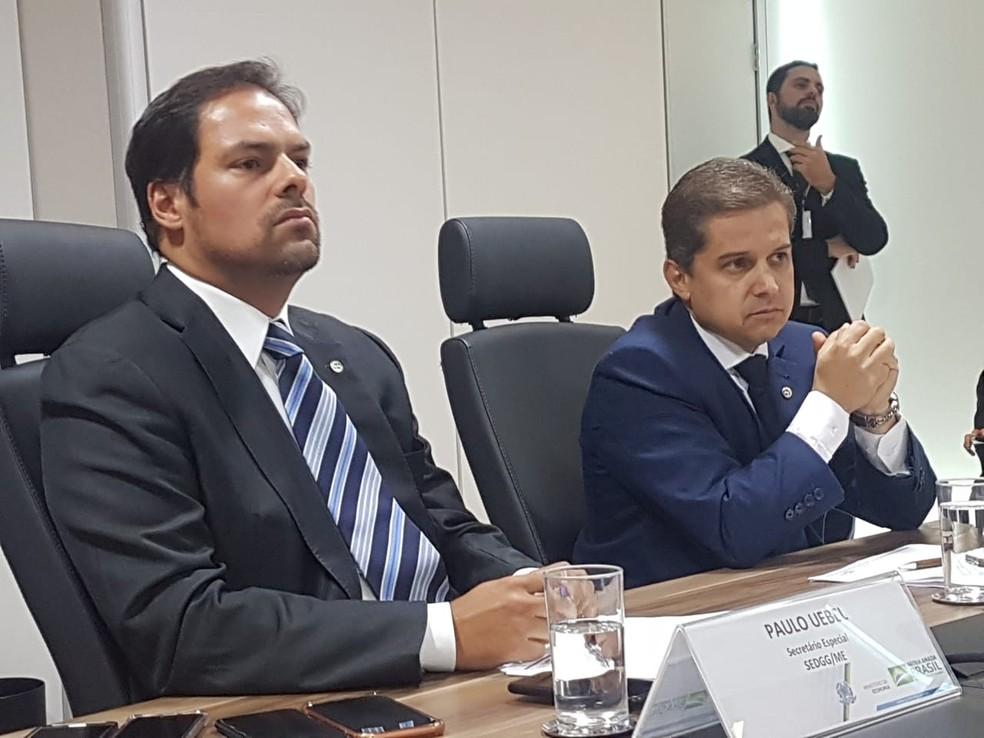 Secretário-especial de Desburoratização, Gestão e Governo Digital do Ministério da Economia, Paulo Uebel. — Foto: Alexandro Martello (Portal G1)