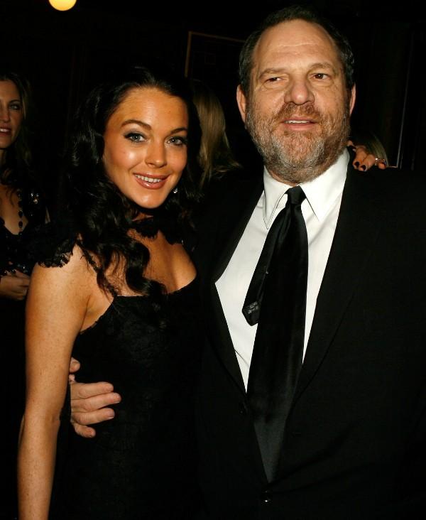 Lindsay Lohan e Harvey Weinstein, produtor que está envolvido em uma série de casos de assédio (Foto: Getty Images)