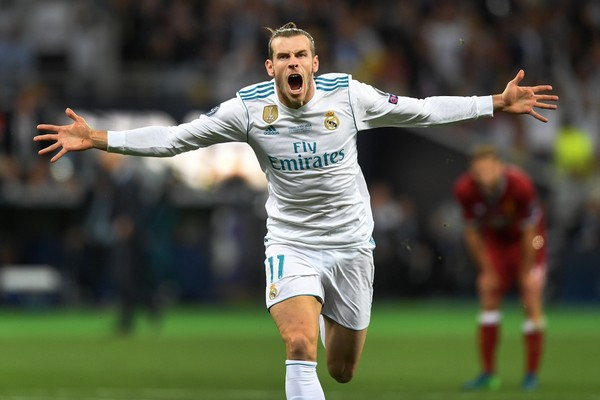 A craque galês do Real Madrid, Gareth Bale, comemorando um gol (Foto: Getty Images)