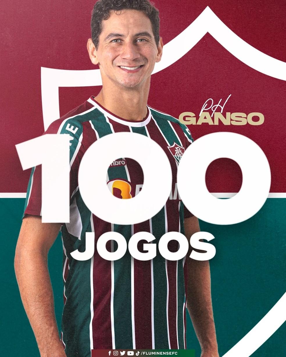 Ganso foi homenageado pelo Fluminense pelos 100 jogos no clube — Foto: Divulgação / Fluminense