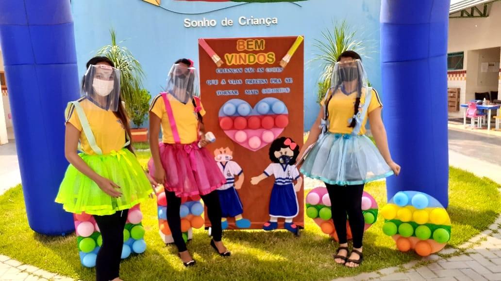 Alunos matriculados na educação infantil de Palmas voltam às aulas presenciais no formato híbrido