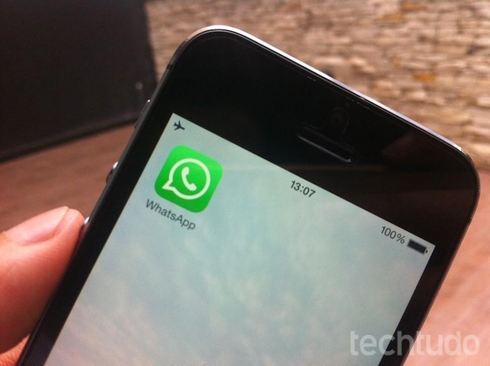 Atualização do WhatsApp também corrige falha de segurança do mensageiro — Foto: Marvin Costa/TechTudo