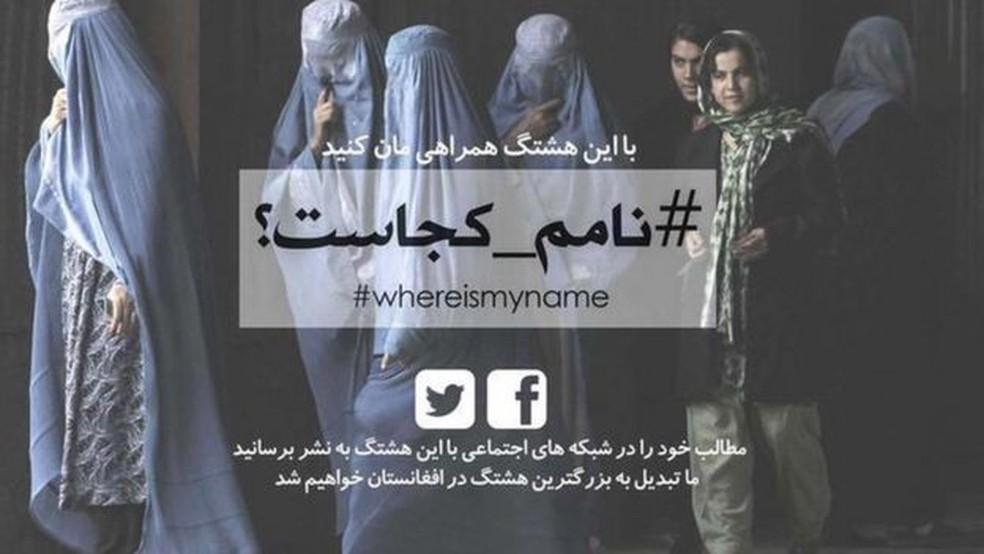 A campanha WhereIsMyName? foi lançada há cerca de três anos por jovens mulheres — Foto: BBC