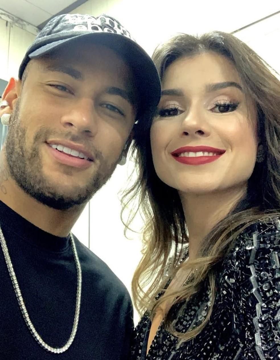 Neymar esteve em show de Paula Fernandes em Portugal — Foto: Reprodução/Instagram