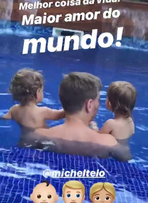 Michel Teló com filhos (Foto: Reprodução/Instagram)