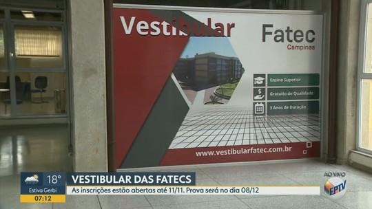 Fatecs abrem inscrições para vestibular com 1,4 mil vagas para região de Campinas; veja cidades