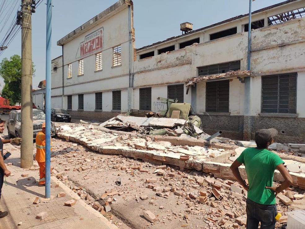 Homem morreu após muro desabar em Jaú — Foto: Arquivo Pessoal
