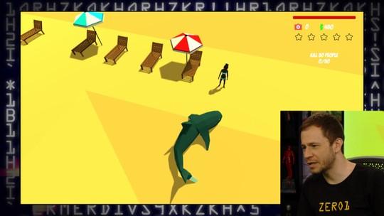 Confira gameplay estendido de 'Shark Simulator' com Tiago Leifert