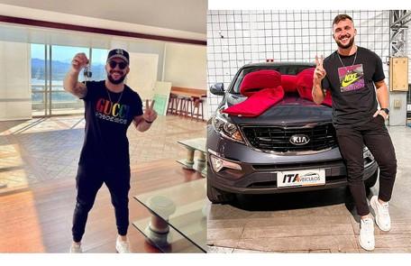 Arthur alugou um apartamento com vista para o mar na Barra da Tijuca, no Rio, e comprou um carro de cerca de R$ 100 mil Reprodução