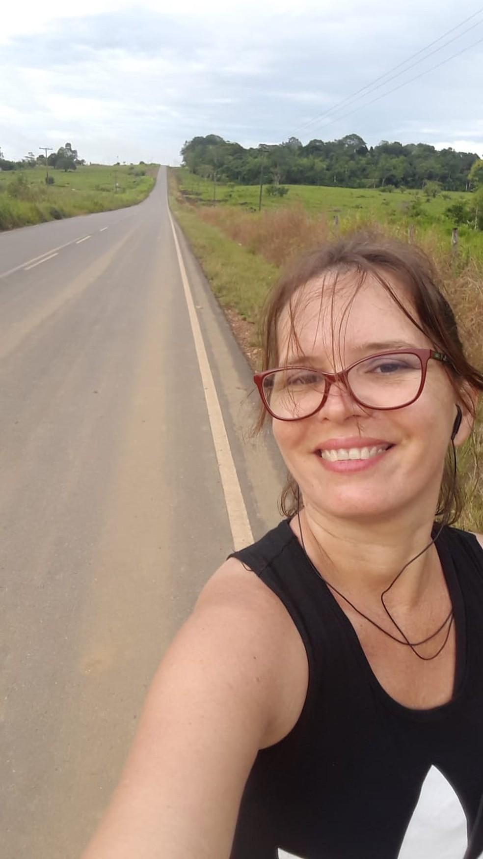 Nete caminha mais de 10 km por dia — Foto: Arquivo Pessoal