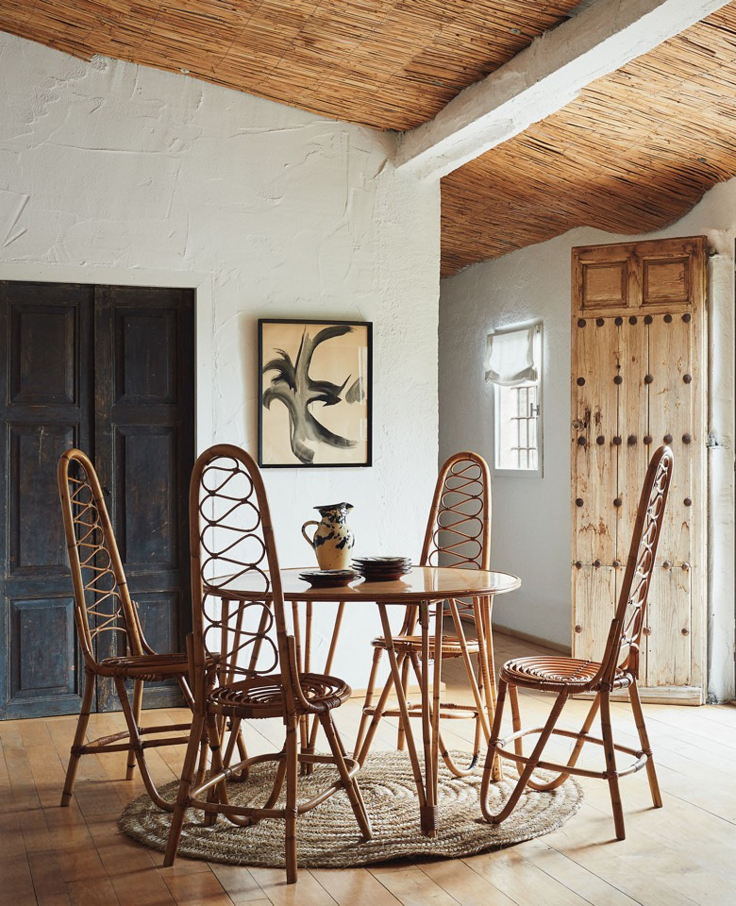 Décor do dia: sala de jantar com móveis rústicos (Foto: Claire Israel)