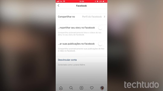 Como colocar o link do seu Instagram no perfil do Facebook