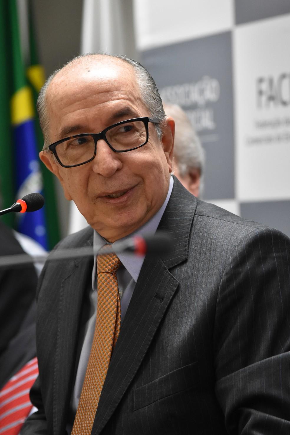 Palestra sobre Reforma Tributária com Marcos Cintra, ex-secretário da Receita Federal, na Associação Comercial de São Paulo em 12 de agosto — Foto: ROBERTO CASIMIRO/FOTOARENA/FOTOARENA/ESTADÃO CONTEÚDO