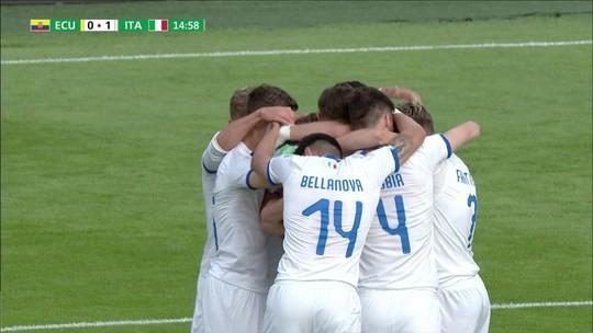 Itália vence Equador e garante vaga nas oitavas com uma rodada de antecipação