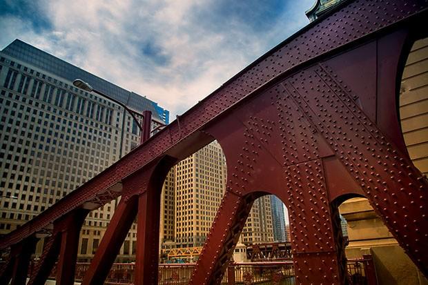 Lifestyle Chicago - A passarela que funciona como área de lazer (Foto: Rogério Voltan)