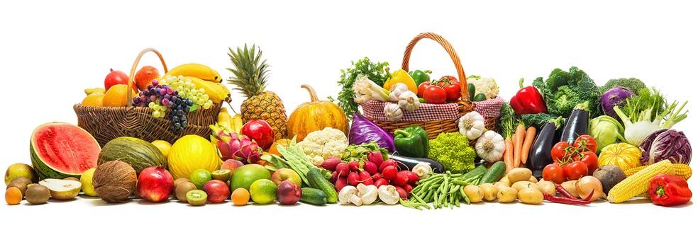 Frutas, legumes e verduras. — Foto: Divulgação