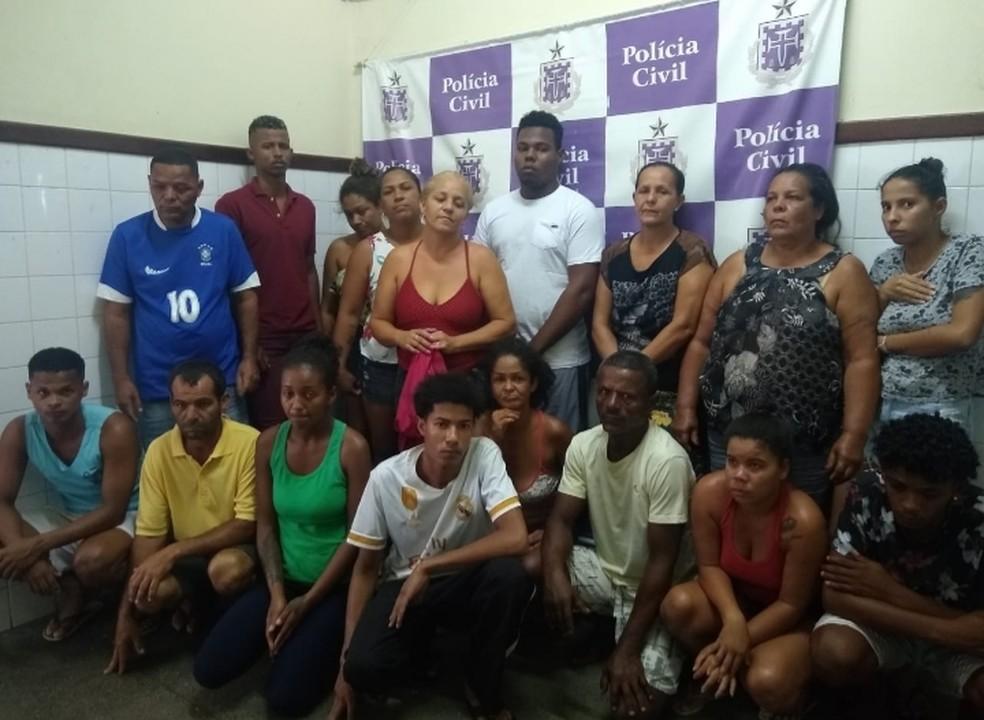 Grupo é preso por tráfico de drogas em Itaberaba, na Bahia — Foto: Secretaria de Segurança Pública/Divulgação