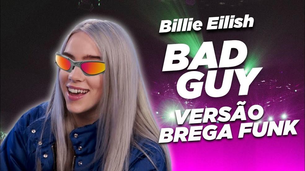 Billie Eilish em montagem de podcast de brega-funk — Foto: Divulgação