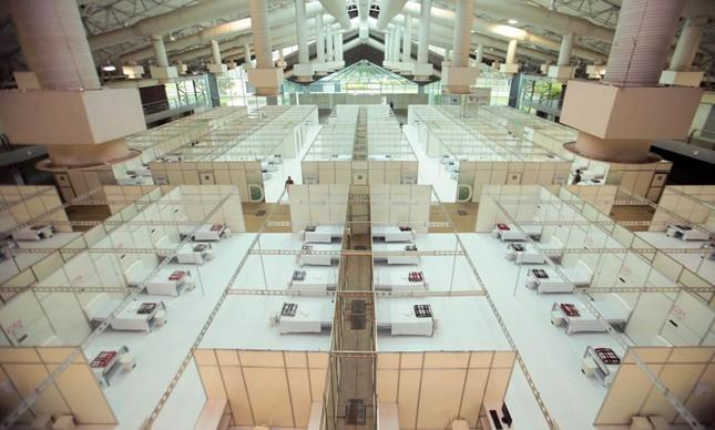 Hospital de Campanha do Hangar, em Belém