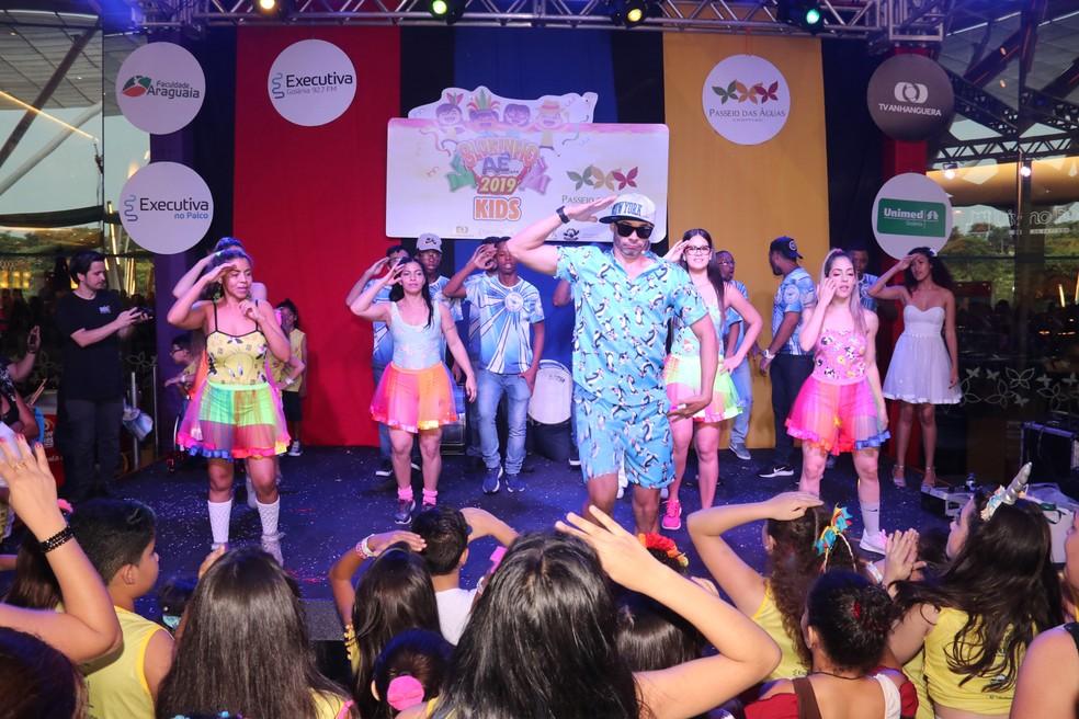 Animação infantil no shopping Passeio das Águas, em Goiânia — Foto: Comunicação Interativa/Divulgação