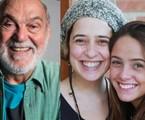 Lima Duarte, a neta, Paloma Duarte, e a bisneta, Ana Clara | Globo e reprodução