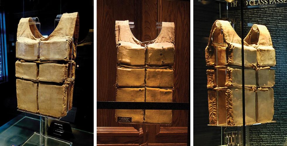 Coletes salva-vidas do Titanic em exposição (Foto: Titanic Museum Attraction/Reprodução)