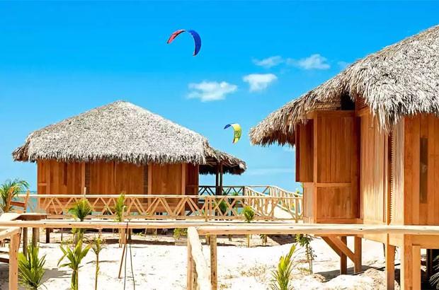 Bangalôs do Jaguaribe Lodge and Kite, em Fortaleza (Foto: divulgação)