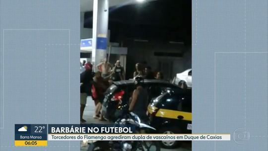 Dois torcedores do Vasco são espancados em posto de combustível de Duque de Caxias